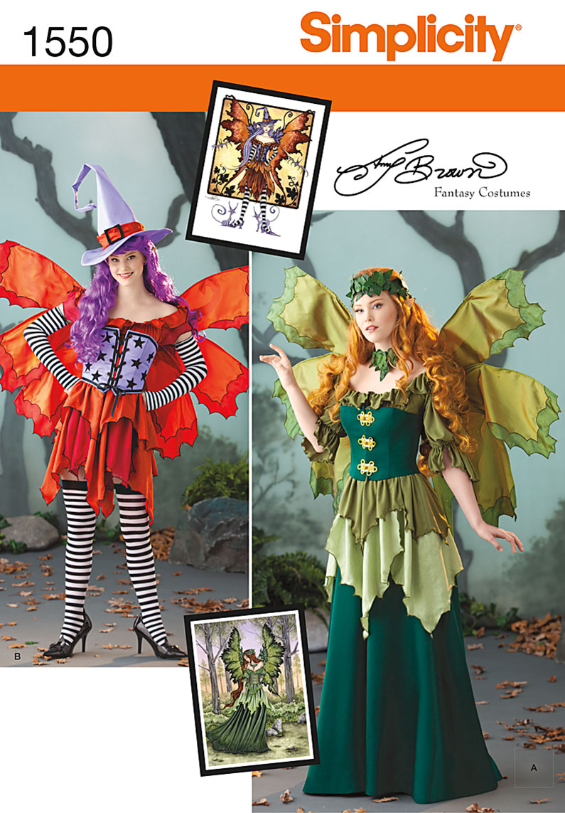 Simplicity Misses' Amy Brown Fairy Costume 1550
