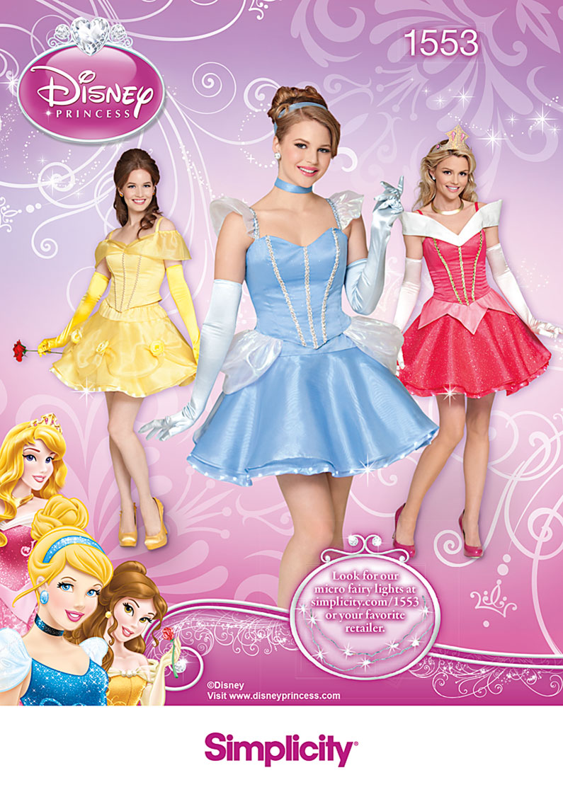Simplicity Misses' Disney Princess Costume 1553