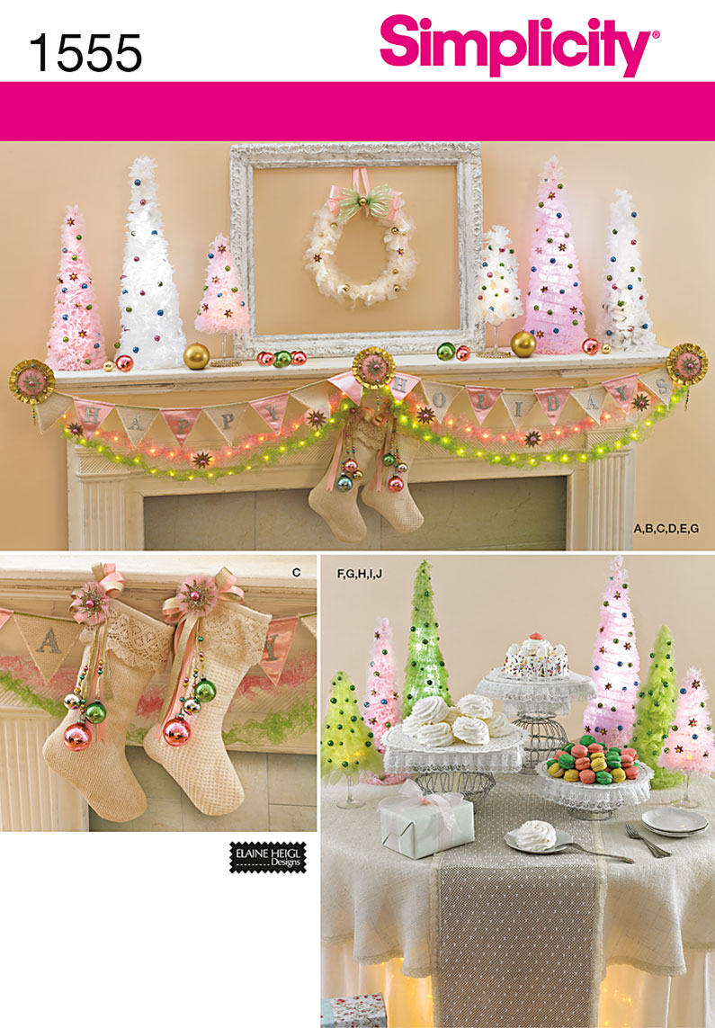 Simplicity Christmas Decorations 1555