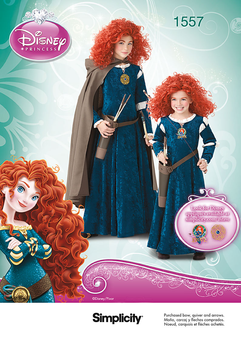 Simplicity Child's and Girls' Disney Brave Costume 1557