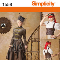 Simplicity 1558 Pattern ( Size 6-8-10-12 )
