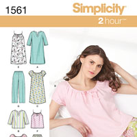 Simplicity 1561 Pattern ( Size XS-S-M )