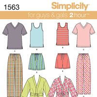 Simplicity 1563 Pattern ( Size XS-S-M-L-XL )