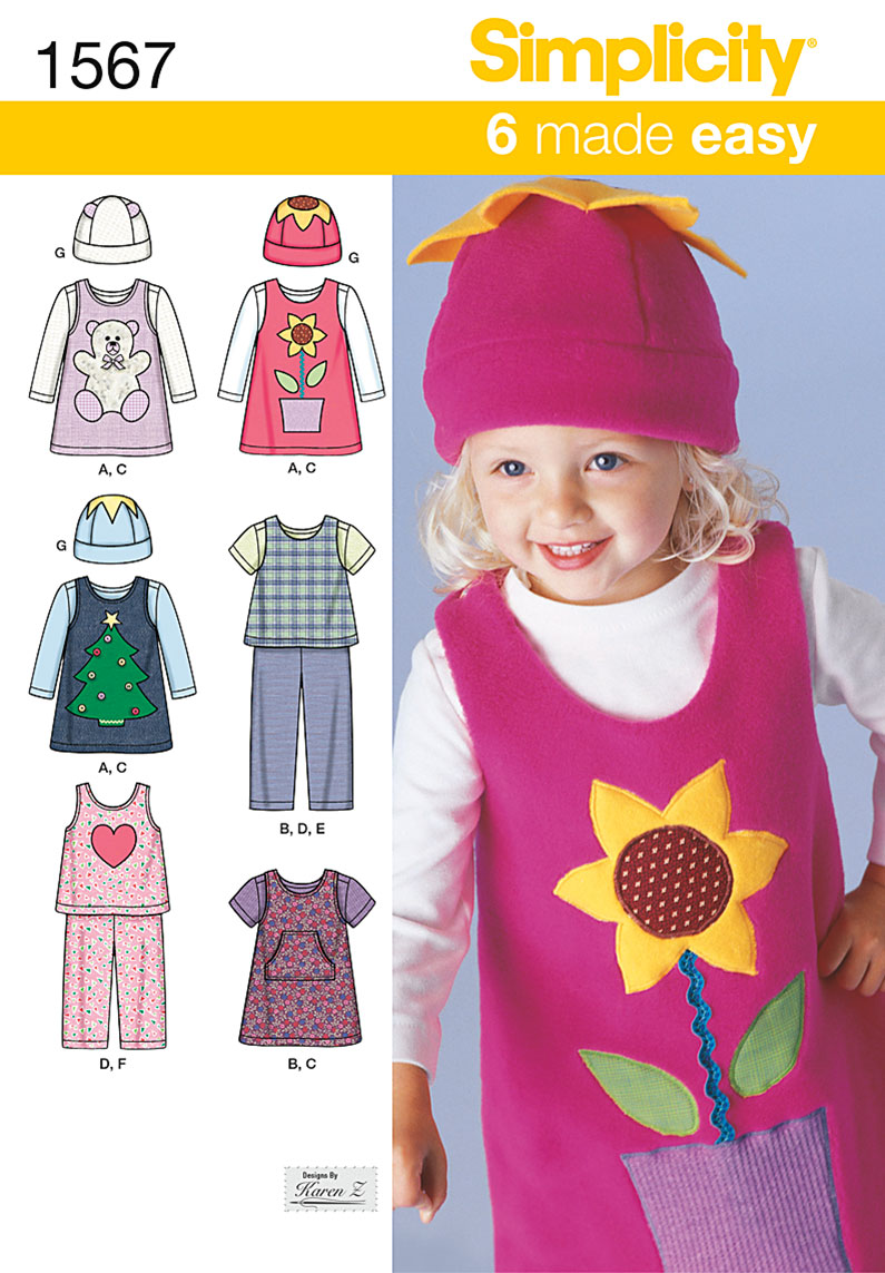 Simplicity Toddlers' Separates 1567