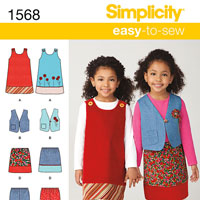 Simplicity 1568 Pattern ( Size 3-4-5-6-7-8 )