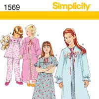 Simplicity 1569 Pattern ( Size 3-4-5-6 )