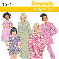 Simplicity 1571 Pattern ( Size 7-8-10-12-14 )