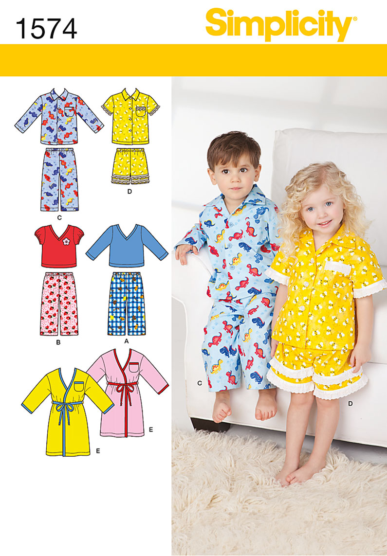 Simplicity Toddlers' Loungewear 1574