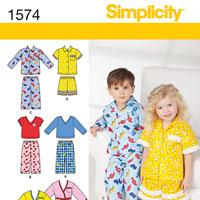 Simplicity 1574 Pattern ( Size 1/2-1-2-3-4 )