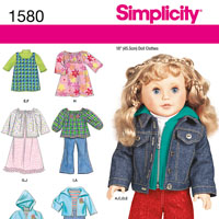 Simplicity 1580 Pattern ( Size ONE )