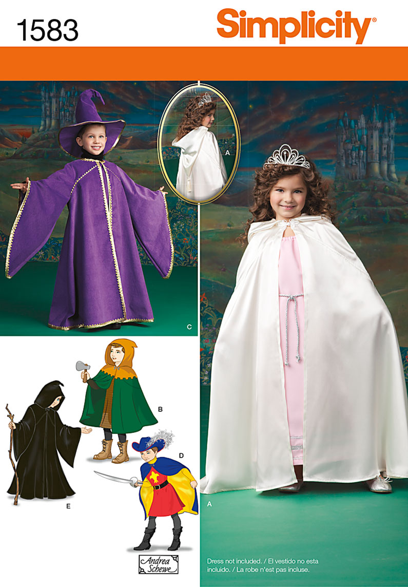 Simplicity Child's Caped Costume 1583
