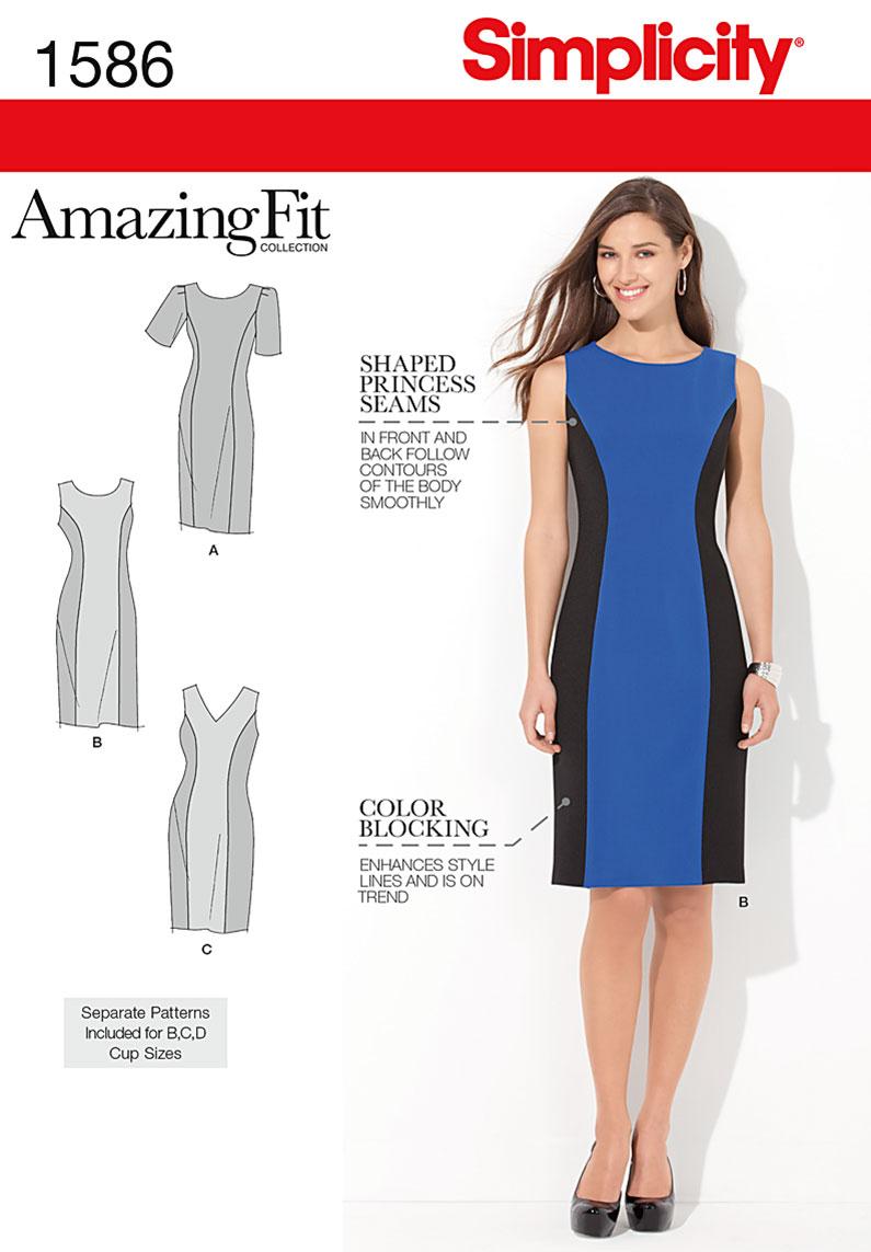 Simplicity 1586- Misses Dress