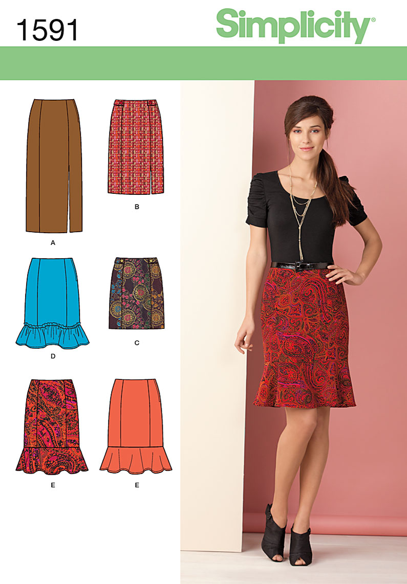 Simplicity Misses Skirts 1591