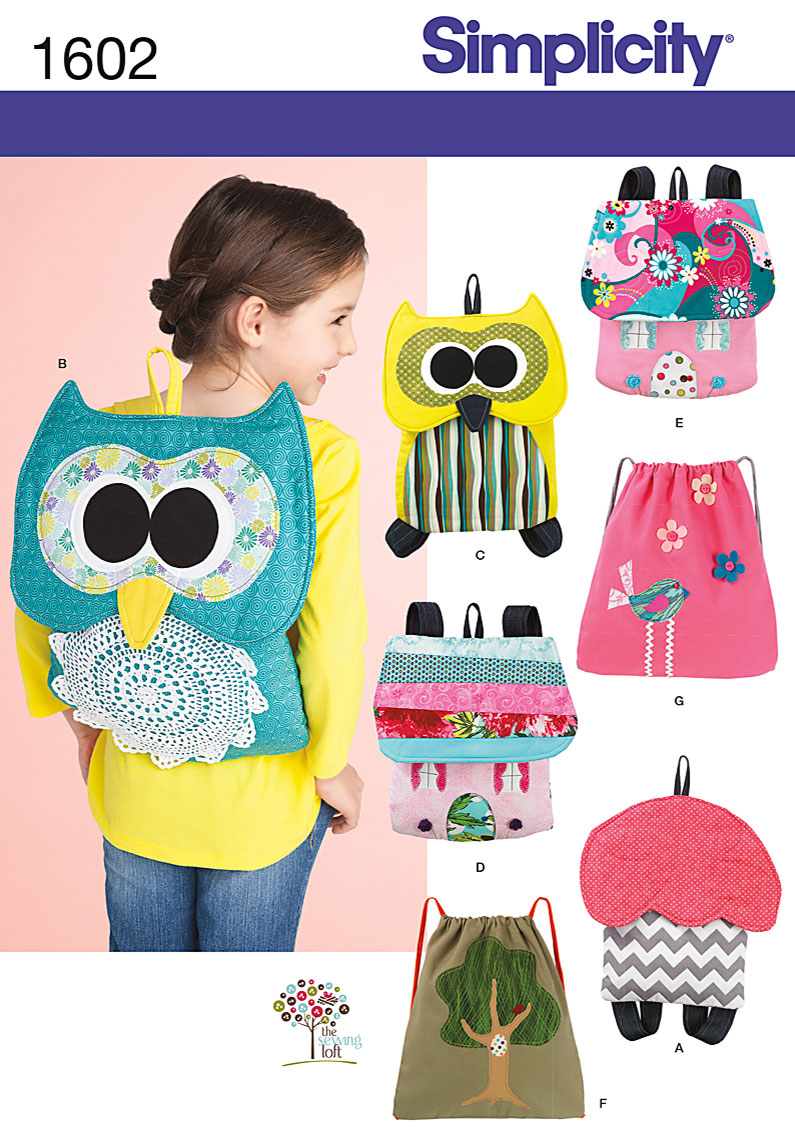 Simplicity Child's Backpacks 1602