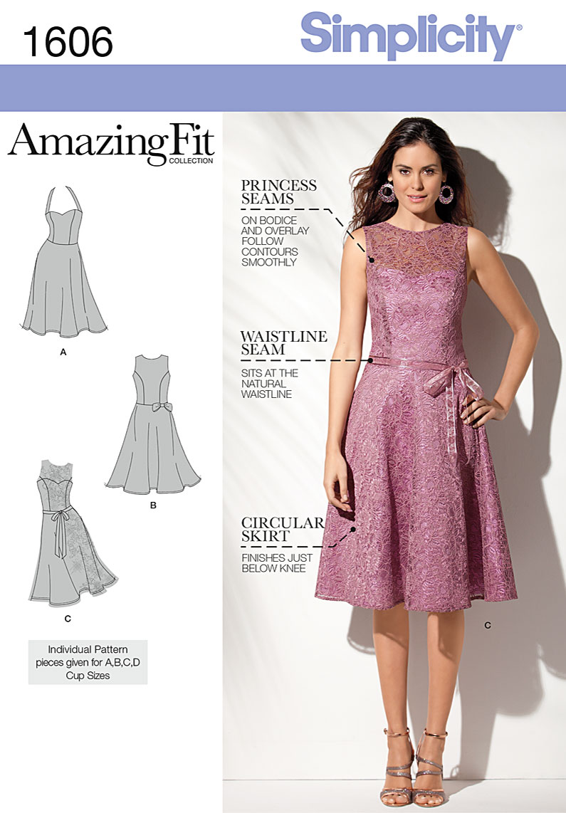 Simplicity 1606 Misses and Petite Dress sewing pattern