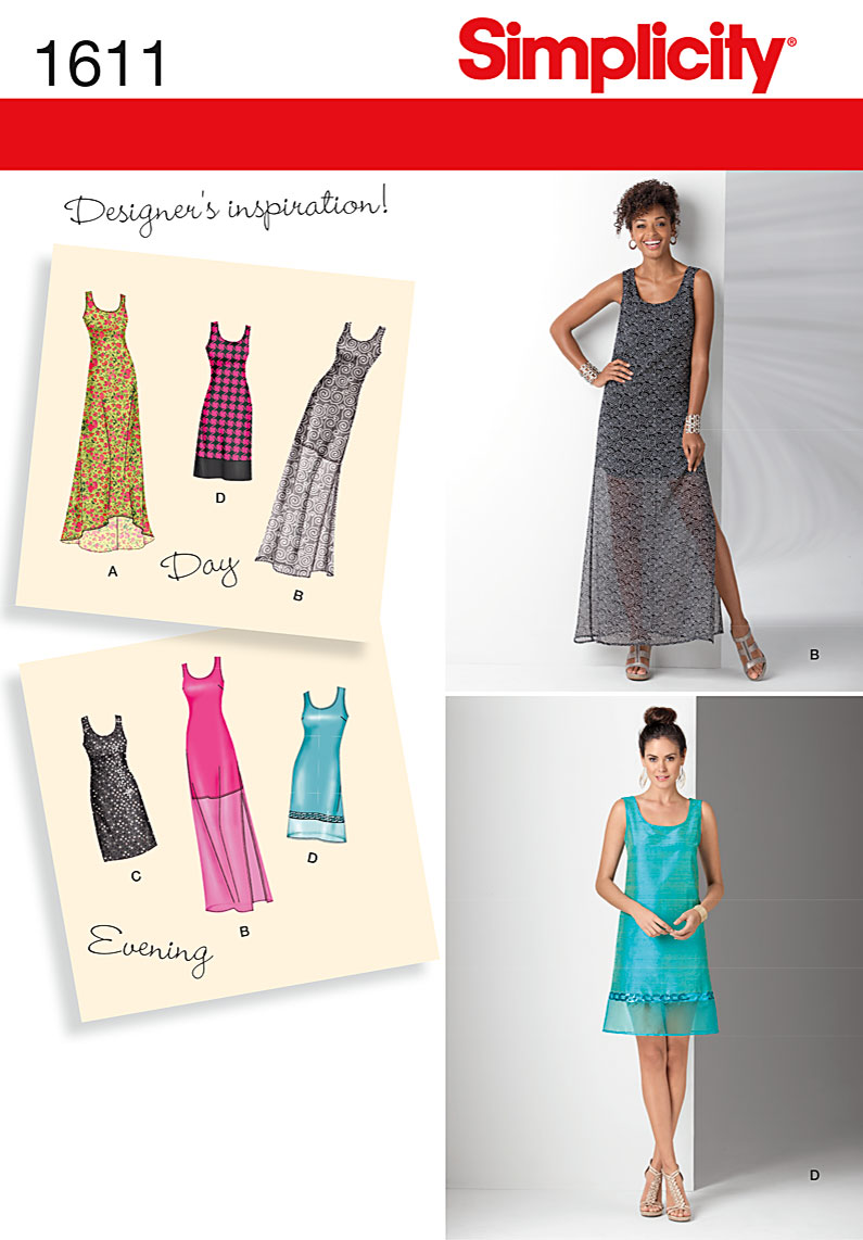 Simplicity Misses and Petite Dress 1611