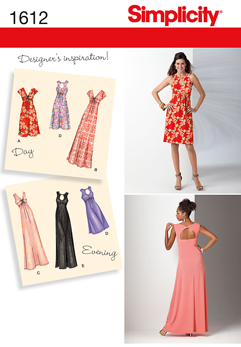 Simplicity Misses and Plus Dress 1612