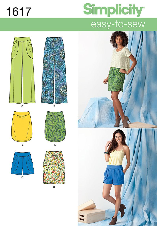 Simplicity Misses' Skirt, Pants & Shorts 1617