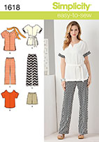 Simplicity 1618 Pattern ( Size XXS-XS-S-M-L-XL-XXL )