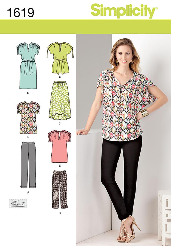 Simplicity Misses' Sportswear 1619