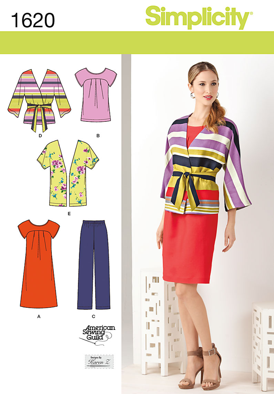 Simplicity Misses' & Plus Size Dress & Separates 1620