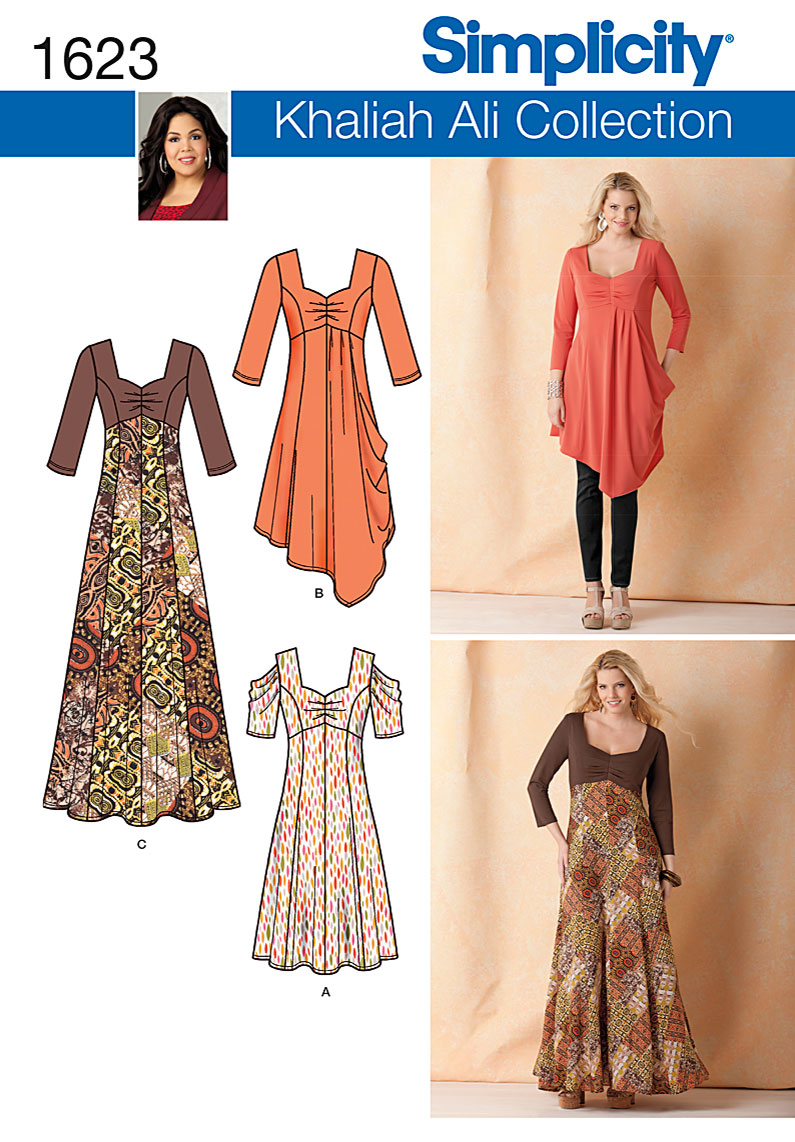 Simplicity Misses and Plus Dresses 1623