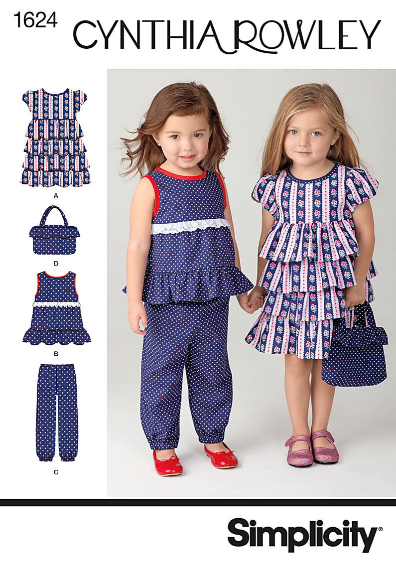 Simplicity Toddler Dress, Top, Pants and Bag 1624