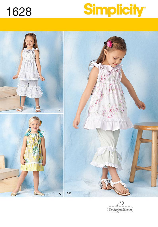 Simplicity Child's Dress, Top & Pants 1628