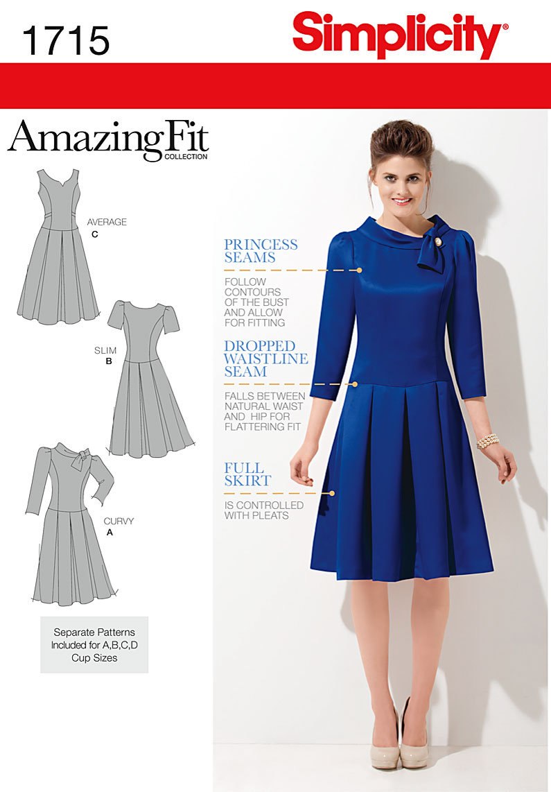 Simplicity Misses' & Miss Petite Dress 1715