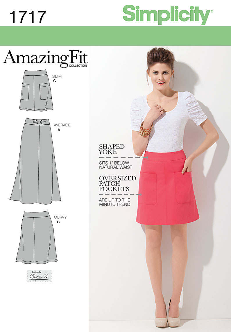 Simplicity Misses Skirt 1717