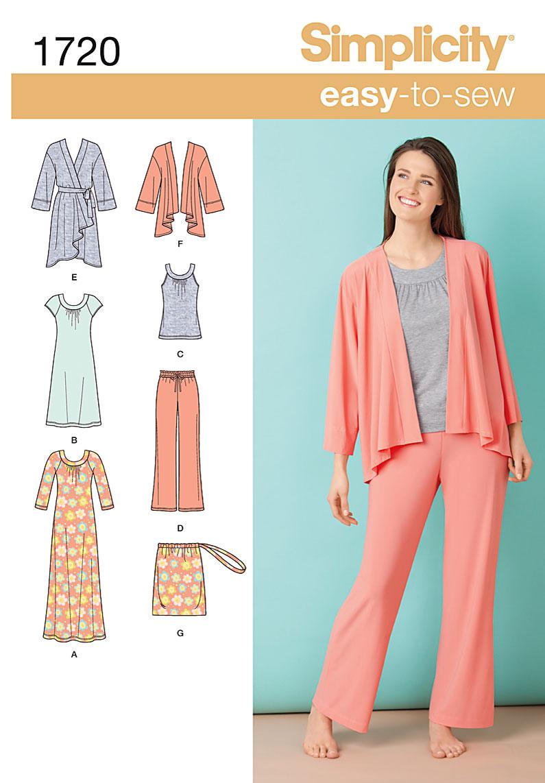 Simplicity Misses Loungewear 1720