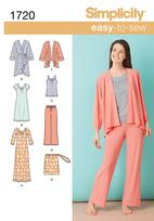 Simplicity 1720 Pattern ( Size XXS-XS-S-M-L-XL-XXL )
