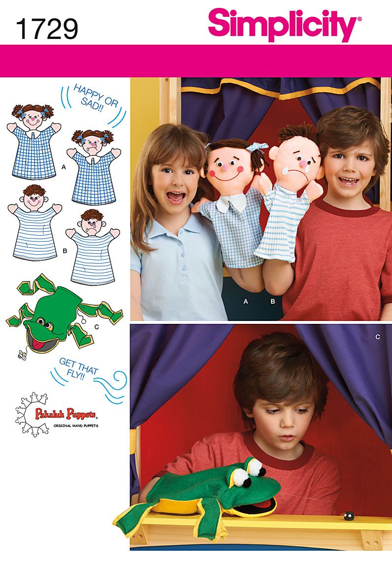 Simplicity Hand Puppets 1729