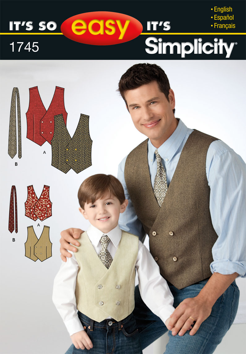 Simplicity Boy's and Men's Vest 1745