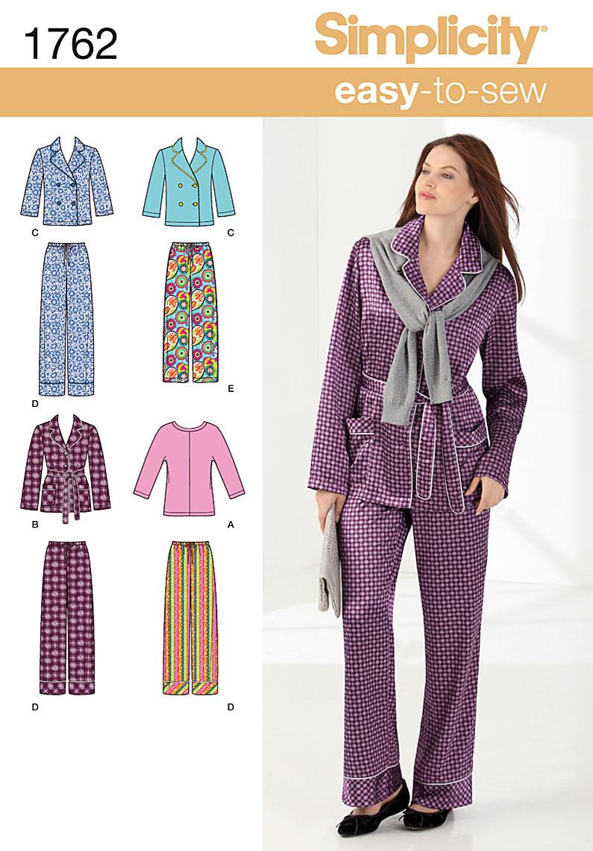 Simplicity Misses' Pajamas 1762