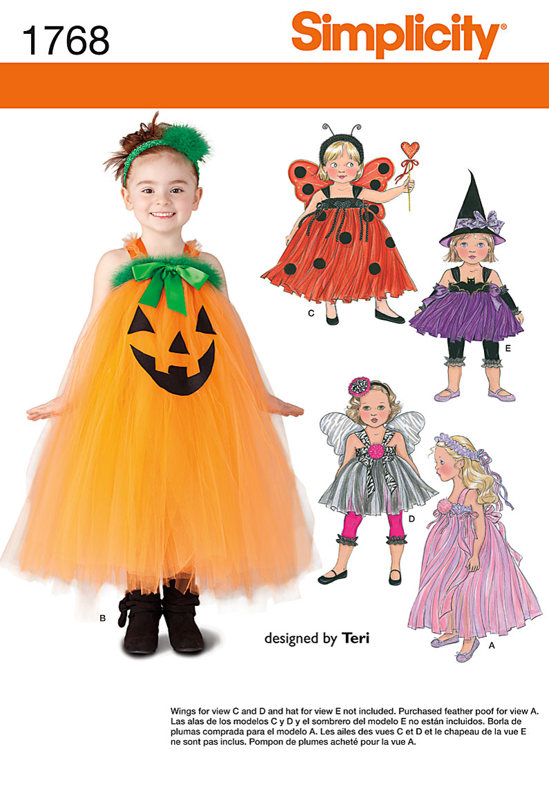 Simplicity Toddler and Child Costume 1768