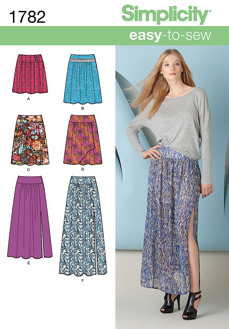 Simplicity Misses Skirt 1782