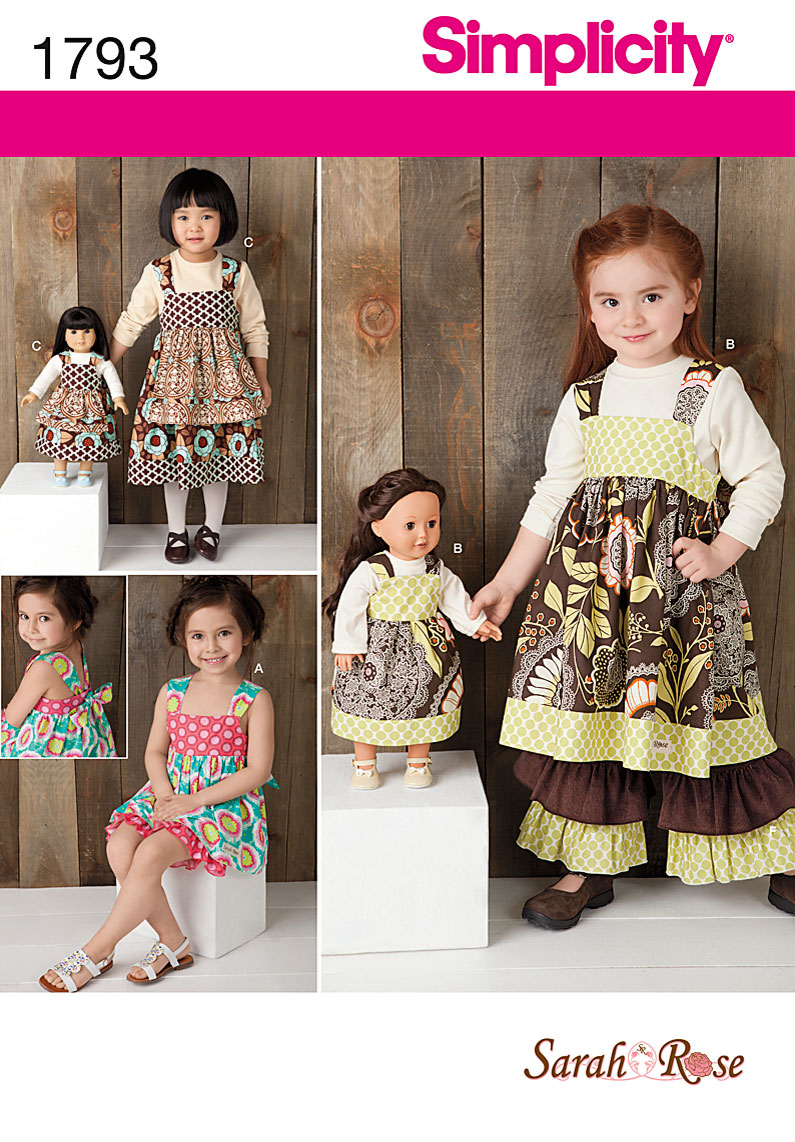 Simplicity Child's Dress, Pants, Shorts with Doll Dress 1793