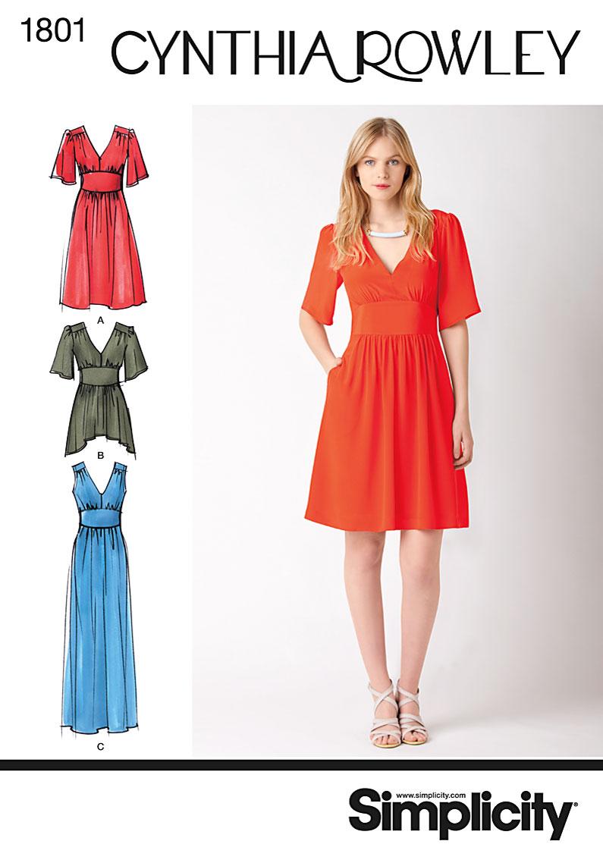 Simplicity Misses Dress 1801