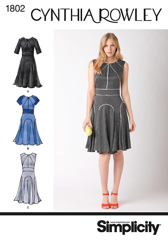 Simplicity 1802- Misses Dress