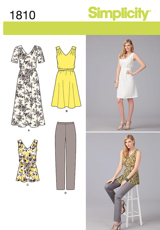 Simplicity Misses' & Plus Size Sportswear 1810