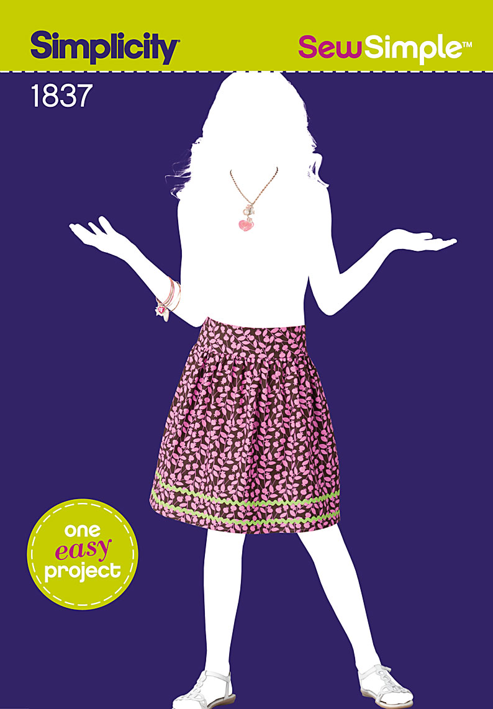 Simplicity Sew Simple Girls Skirt 1837