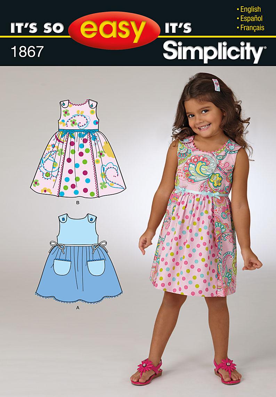 Simplicity Child's Dresses 1867