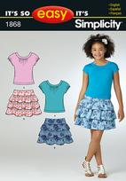 Simplicity 1868 Pattern ( Size 7-8-10-12-14-16 )