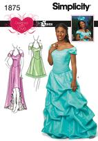 Simplicity 1875 Pattern ( Size 4-6-8-10-12 )