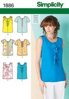 Simplicity 1886 Pattern ( Size 14-16-18-20-22 )