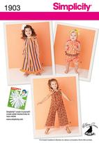 Simplicity 1903 Pattern ( Size 1/2-1-2-3 )