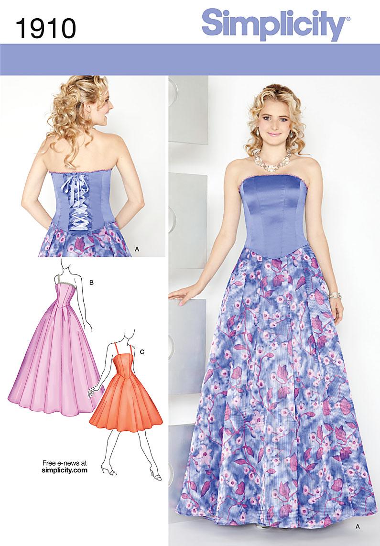 Simplicity 1910- Misses' & Miss Petite Dresses