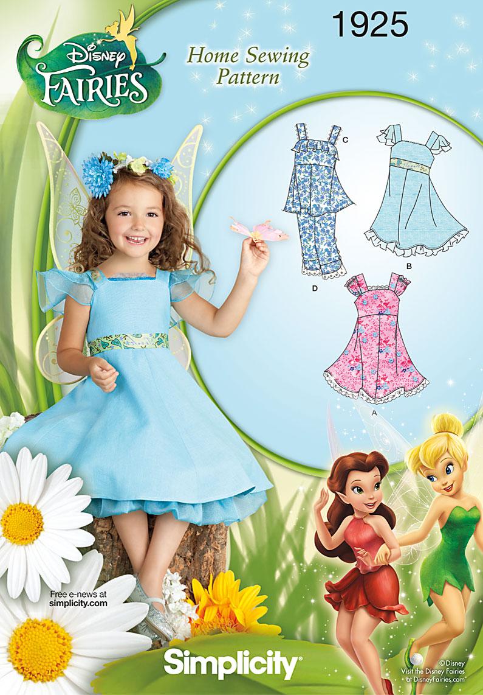 Simplicity Child's Dresses Disney Fairies 1925