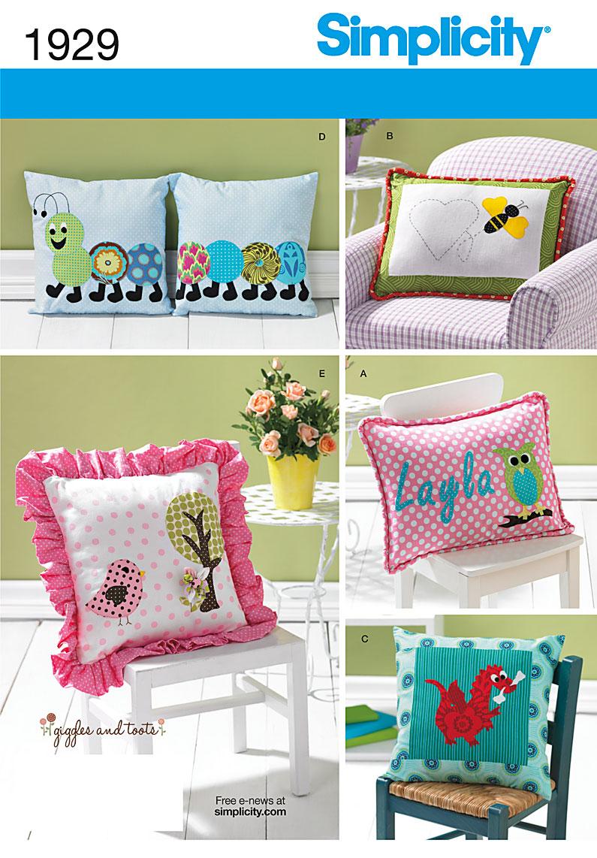 Simplicity Decorative Pillows 1929